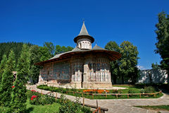 Voronet  monastery. The Voronet monastery in summer Royalty Free Stock Photo