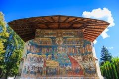 Voronet Monastery, Bucovina, Romania. Stock Photos