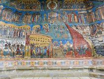Voronet monastery - Last judgment Royalty Free Stock Photography