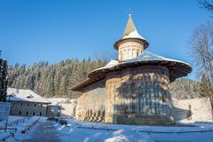 Voronet, the most famous painted monasteries in Romania. The Voronet Monastery - The most famous painted monasteries in Romania Stock Photography