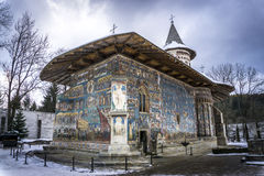 Voronet Monastery. The Voronet Monastery - one of the famous painted monasteries in Romania Royalty Free Stock Images