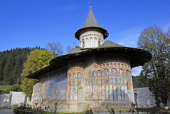 Voronet Monastery, Romania stock photos
