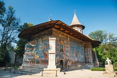 Voronet Monastery in Romania. Voronet Monastery is a famous painted monastery in Romania Stock Image