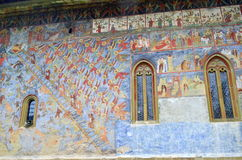 Voronet monastery - Wall Painting Royalty Free Stock Photo