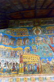 Voronet monastery-wall painting Royalty Free Stock Photography