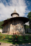 Voronet orthodox painted monastery, Bucovina. Listed in UNESCO`s list of World Heritage sites Royalty Free Stock Photography