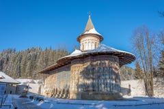 Voronetklooster in Roemenië wordt gesitueerd dat royalty-vrije stock foto