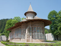 Voronets monastery in Romania Stock Photos