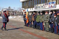 Voronezh cossacks. Pancake week Stock Photography