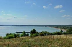 Voronezh flod i Voronezh Fotografering för Bildbyråer