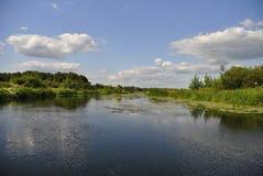 Voronezh flod, Ryssland Fotografering för Bildbyråer