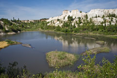 Voronezh Grand Canyon `White whell`. Lake in Voronezh Grand Canyon `White whell Stock Photo