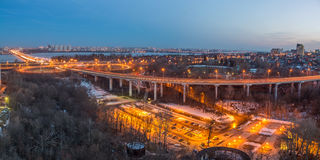 Voronezh highway. Transport interchange with overpass and bridge Royalty Free Stock Image