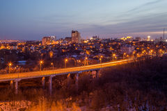 Voronezh highway. Transport interchange with overpass and bridge Stock Photography