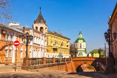 Voronezh March sunny day. Stone Bridge Royalty Free Stock Photos