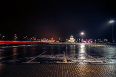 voronezh nacht Stad glans Ijs Stock Afbeelding