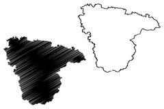 Voronezh Oblast mapy wektor ilustracji