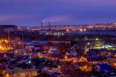 Voronezh pejzażu miejskiego widok od dachu Obrzeża Voronezh Obrazy Royalty Free