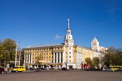 Voronezh regionaler Rat der Gewerkschaften auf Lenin Lizenzfreie Stockfotografie