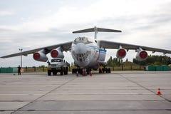VORONEZH, RUSSIA - AUGUST 28, 2013: Cargo airplane IL-76M Stock Photo