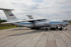 VORONEZH, RUSSIA - AUGUST 28, 2013: Cargo airplane IL-76M Royalty Free Stock Images