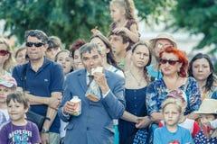 Voronezh, Russie : Le 12 juin 2015 Défilé des théâtres de rue sur la rue principale de la ville photographie stock