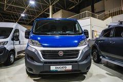 Voronezh, Russland - circa im November 2017: Neue Kleinbusse Fiat für Transport von Leuten und von Arbeit FIATS-Gruppe Lizenzfreie Stockbilder
