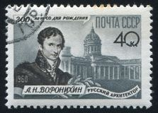 Voronikhin和Kasansky大教堂列宁格勒 库存照片