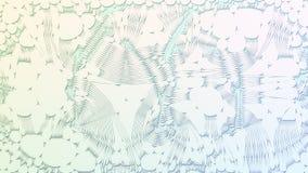 Voronoi abstract patroon op achtergrond het 3d teruggeven Stock Afbeelding