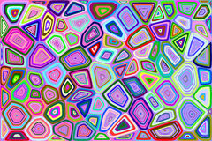 Voronoi-Hintergrund Stockbild