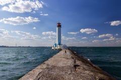 Vorontsov lighthouse in Odessa Royalty Free Stock Photo
