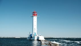 The Vorontsov Lighthouse, pierce and royalty free stock photo