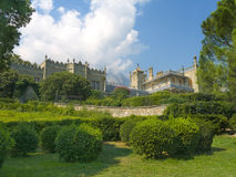 Vorontsov Palace. Bushes and mountains, Crimea royalty free stock photos