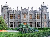 Vorontsov Palace in Alupka. Beautiful architectural landmark - Vorontsov Palace in Alupka, Crimea, Ukraine stock photography