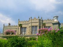 Vorontsov palace in Alupka, Crimea. Ukraine stock images
