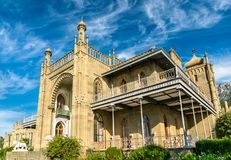 The Vorontsov Palace in Alupka, Crimea. The Vorontsov Palace in Alupka, a major tourist destination in Crimea royalty free stock images