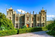 The Vorontsov Palace or the Alupka Palace. Crimea stock photography