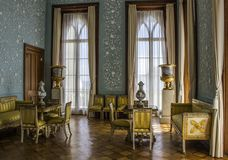Vorontsov Palace in Crimea. Vorontsov palace. Crimea. Monument of architecture. Interior. One of the rooms on the first floor. Tour of the Palace stock photo