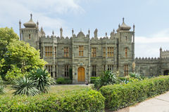 Vorontsov Palace in the town of Alupka, Crimea, Russia Royalty Free Stock Images