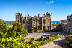 Vorontsov Palace in the town of Alupka, Crimea Royalty Free Stock Images