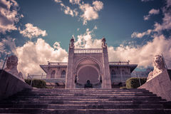 Vorontsov Palace in the town of Alupka, Crimea Royalty Free Stock Photography