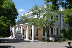 The Vorontsov's palace. In Odessa among the trees at bright sunny midday Stock Images