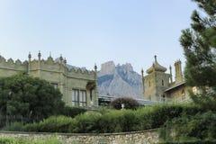 Vorontsov slott i Alupka arkivfoto