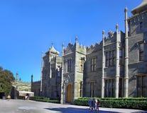 Vorontsov slott i Alupka Krim Royaltyfri Bild