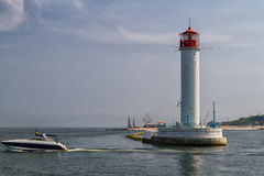 Vorontsovsky lighthouse Stock Images
