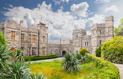 Vorontsovsky palace in Alupka. Crimea, Ukraine. Built in 1828-1851 y stock image