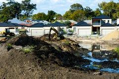 Vorort-Haus-Bau stockfoto