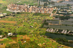 Vorortdorf von Guangzhou-Stadt Lizenzfreie Stockfotos