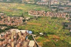 Vorortdorf von Guangzhou-Stadt Stockbild