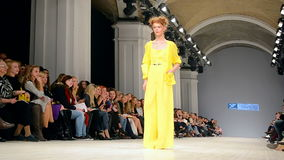 Vorozhbyt & Zemskova presentation, Ukrainian Fashion Week 2015,. KIEV - OCT 17, 2015: Vorozhbyt & Zemskova presentation during Ukrainian Fashion Week 2015 on stock video footage
